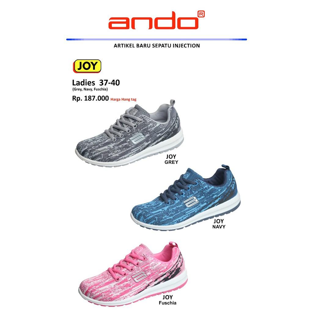 Sepatu Ando Akron Hitam Merah Karet Putih Shopee Indonesia Ardiles Wrg Caprice  Wanita Santai Kerja Running a8badc959a