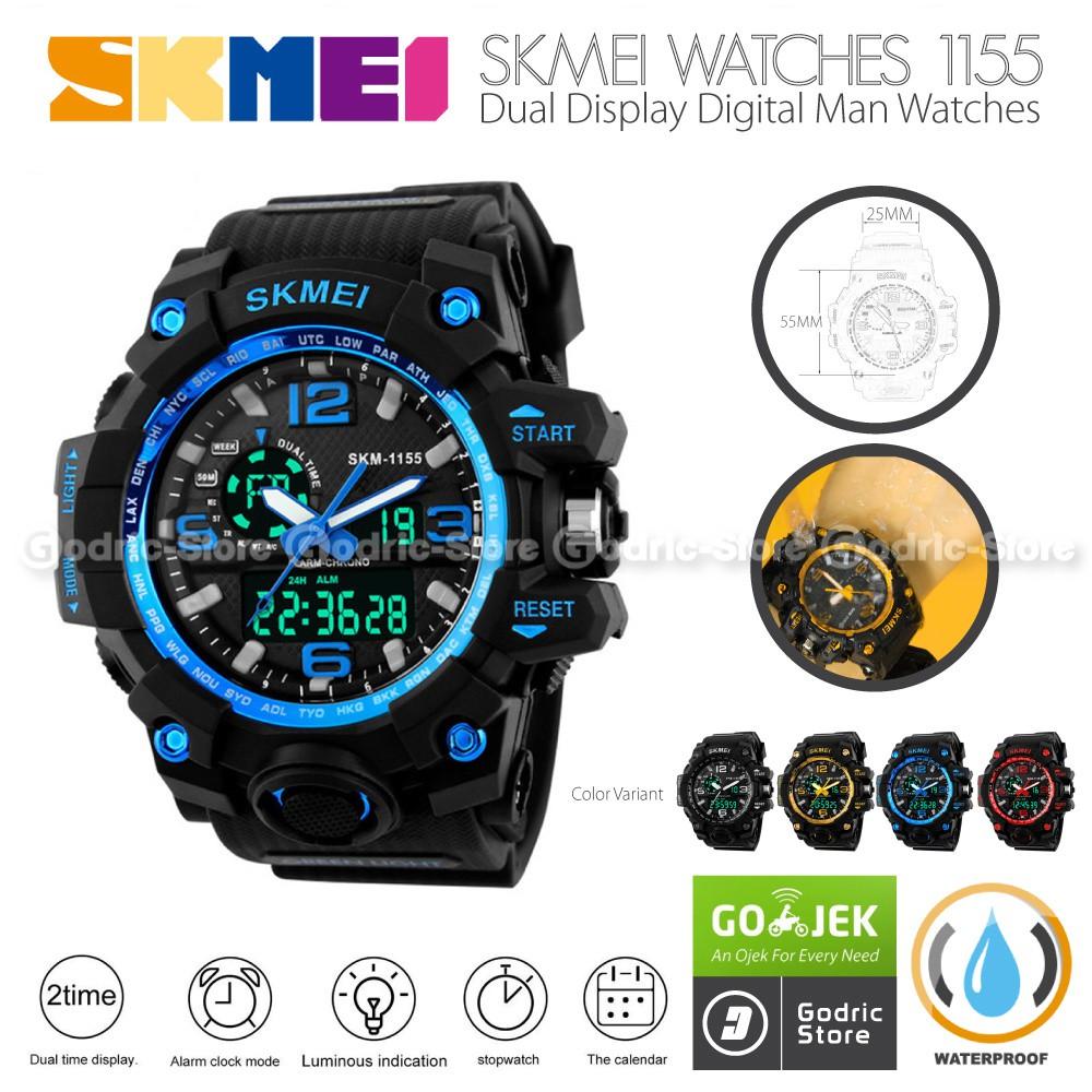 Jam tangan SKMEI ORIGINAL ANTI AIR TALI RUBBER KARET SPORTY FLASH SALE  TERMURAH KM002  26816fa242