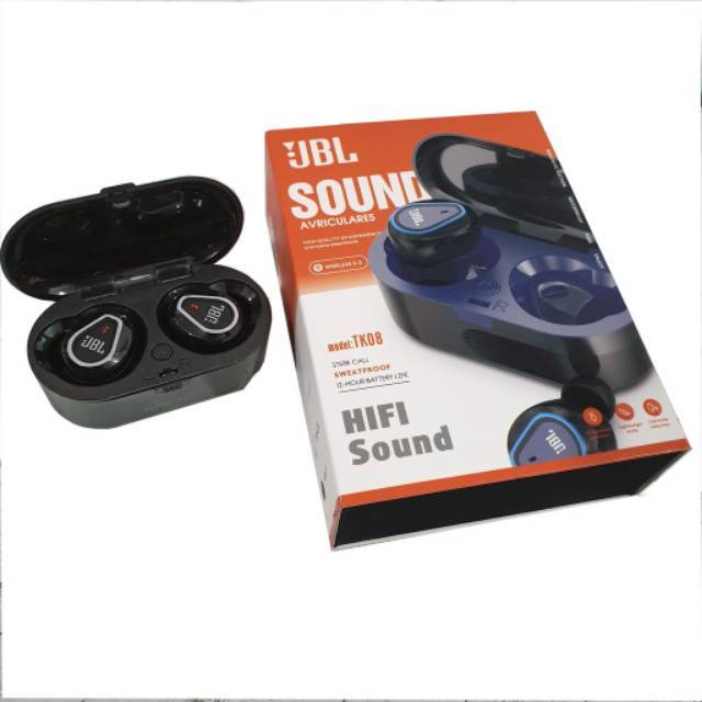 Cod Jbl Tws 4 Jbl Tk 08 By Harman Headset Bluetooth 5 0 Bluetooth Version Full Bass Stereo Shopee Indonesia