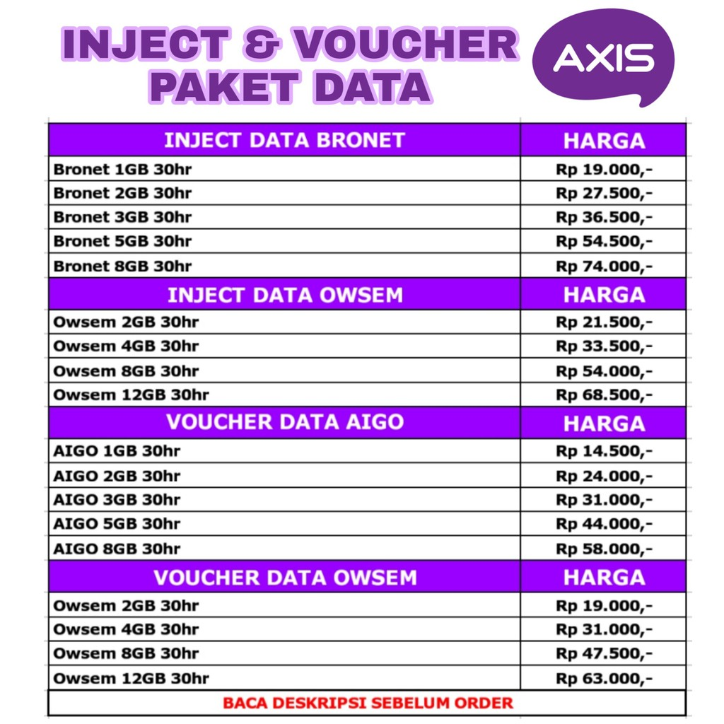 Voucher Paket Data Kuota Internet Axis Aigo Murah 1gb 2gb Special Vocher 100rb 3gb 5gb 8gb 24 Jam Shopee Indonesia