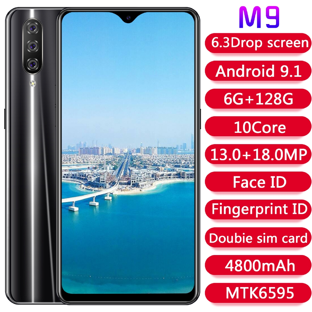 Smartphone M9 Android 6g 128g Hd 18 9 Mtk6580p Octa Core Shopee Indonesia