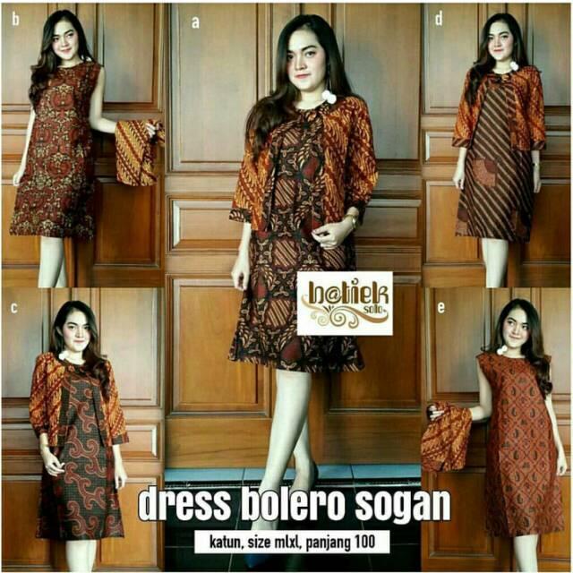 Model Baju Batik Dress Bolero Sogan