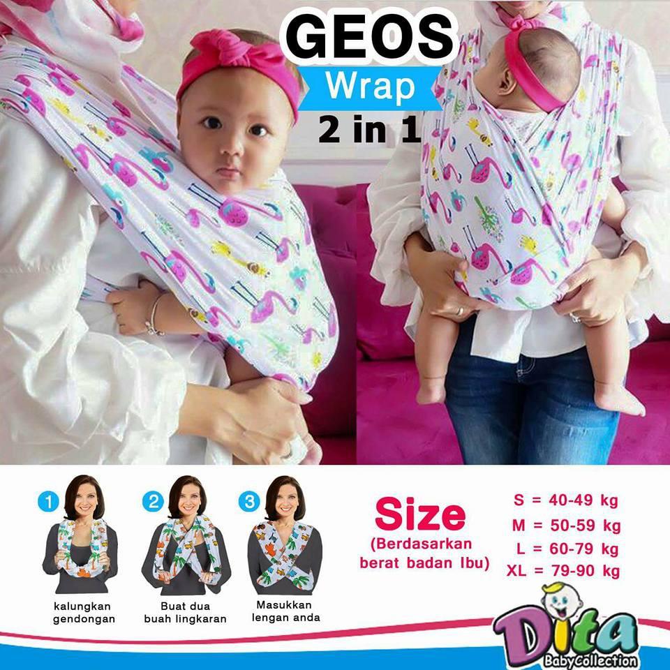 PREMIUM GEOS / GENDONGAN KAOS BABY LEON STRIP BESAR GRAY | Shopee Indonesia