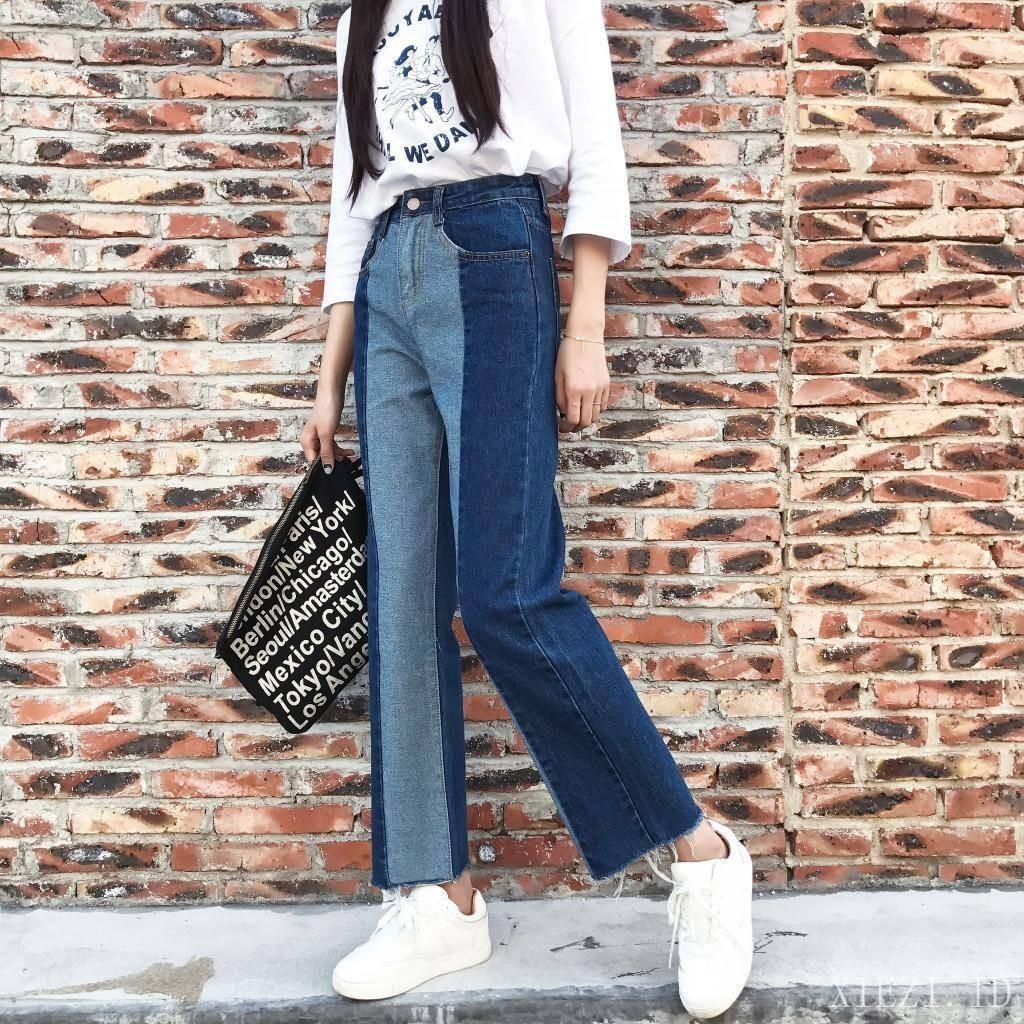 Celana Panjang Jeans Wanita Bahan Tipis Casual Warna Polos Shopee Stelan Pretty Sepatu Indonesia