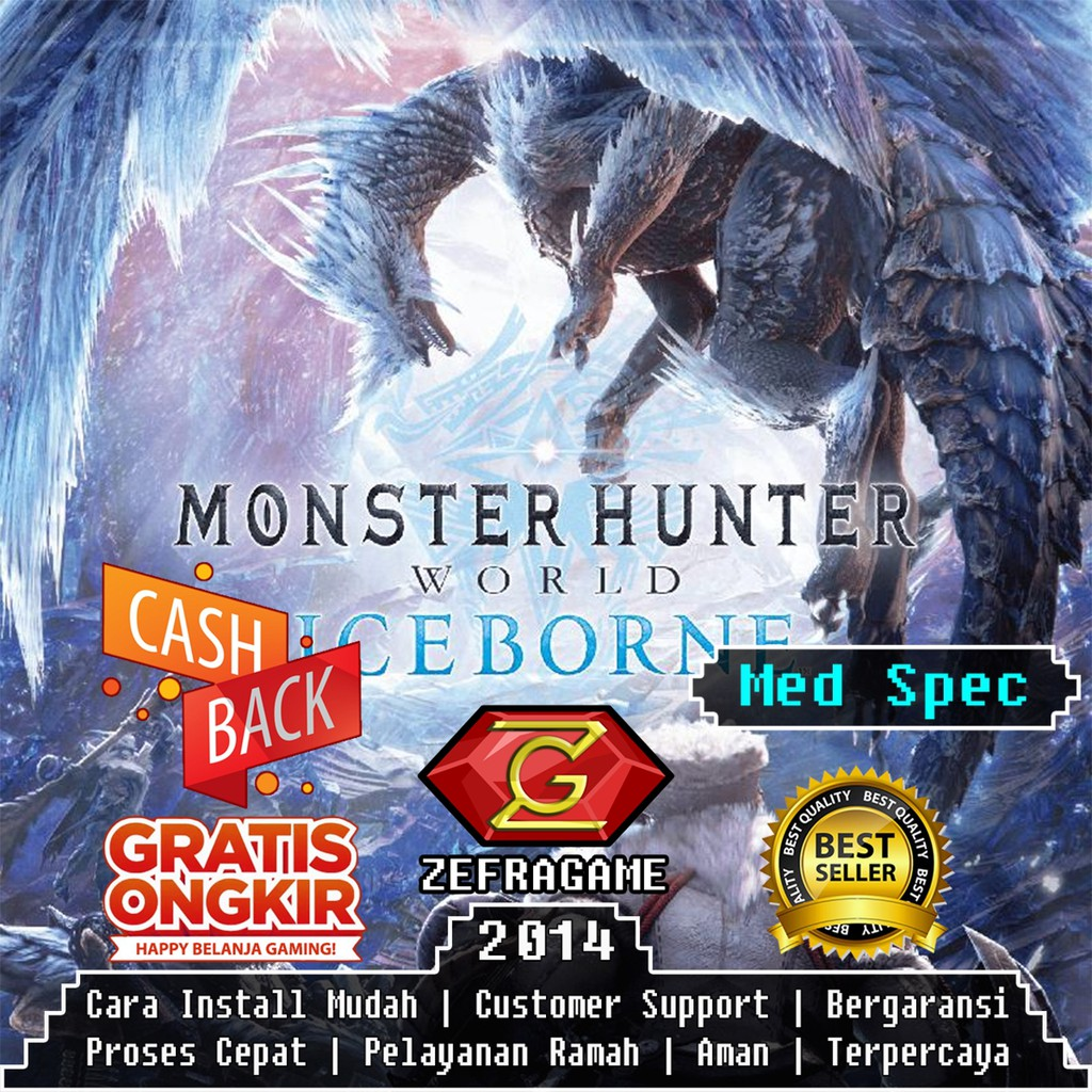 Monster Hunter World Iceborne Deluxe Edition Mhw Dvd Game Pc Kaset Game Laptop Shopee Indonesia