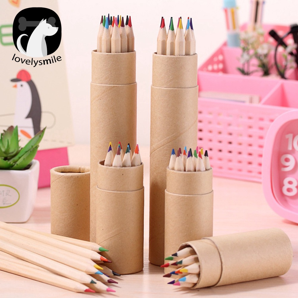 Gratis Gkir L 12 Colors Art Sketch Painting Drawing Pencils With Holder Student Stationery