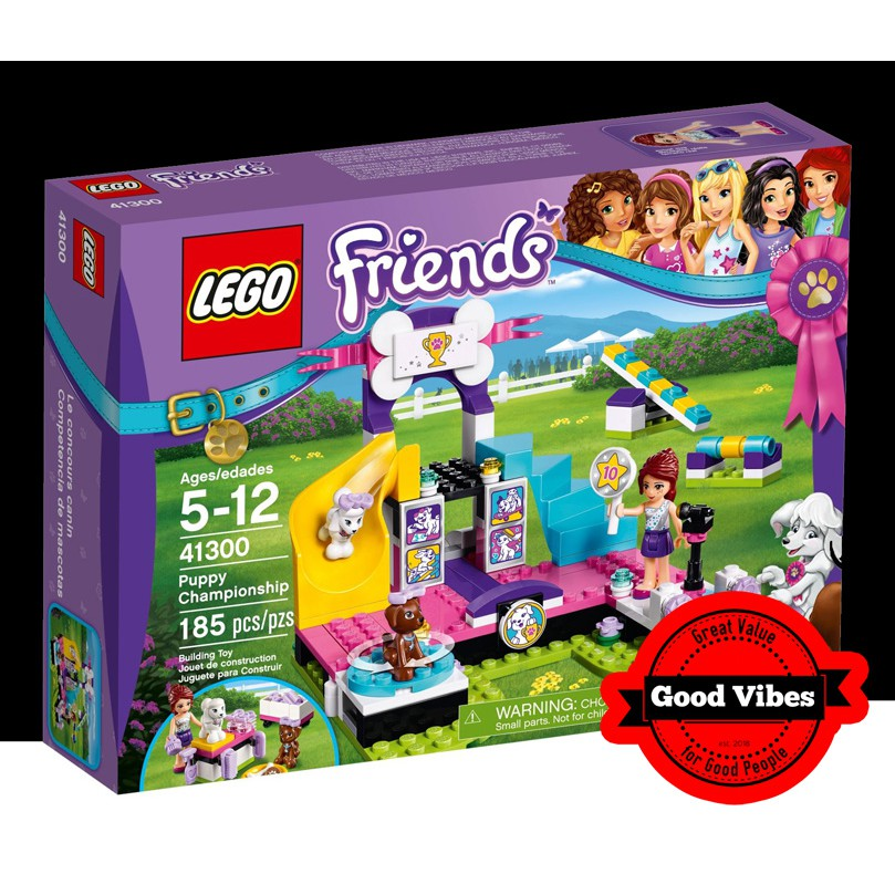 Ages 5-12 Years NEW Lego # 41300 Lego Friends Puppy Championship 185 pcs
