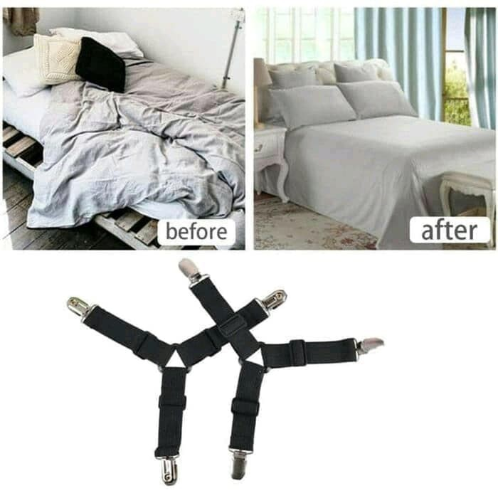 FG 4PCS Bed Sheet Clip Fasteners Strap Mattress Elastic Holder Keep Fixing Clamp   Shopee Indonesia