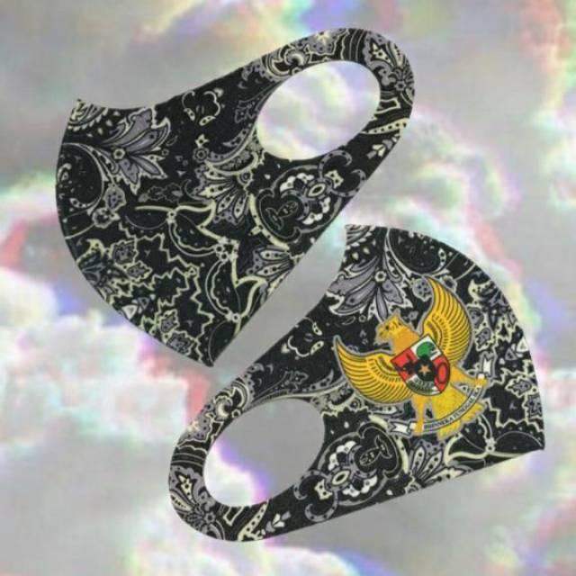 Masker scuba motif batik garuda dewasa | Shopee Indonesia