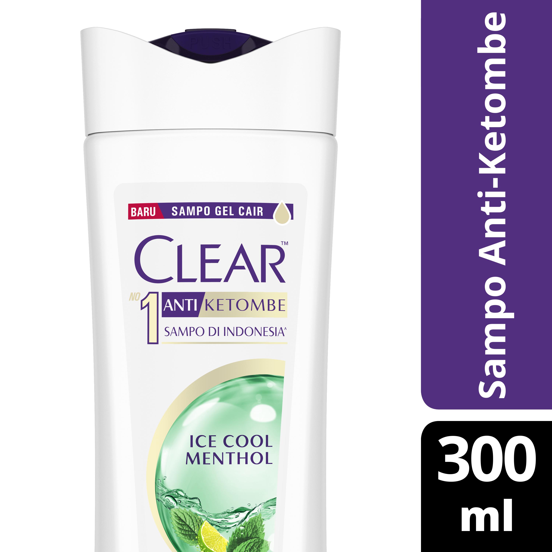Clear Shampoo Ice Cool Menthol 300 Ml - Shampoo Anti Dandruff, Sampo Anti Ketombe