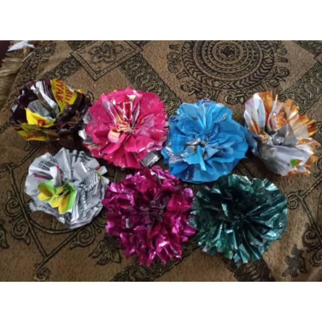 Bunga Dari Plastik Bekas Tanpa Tangkai Shopee Indonesia