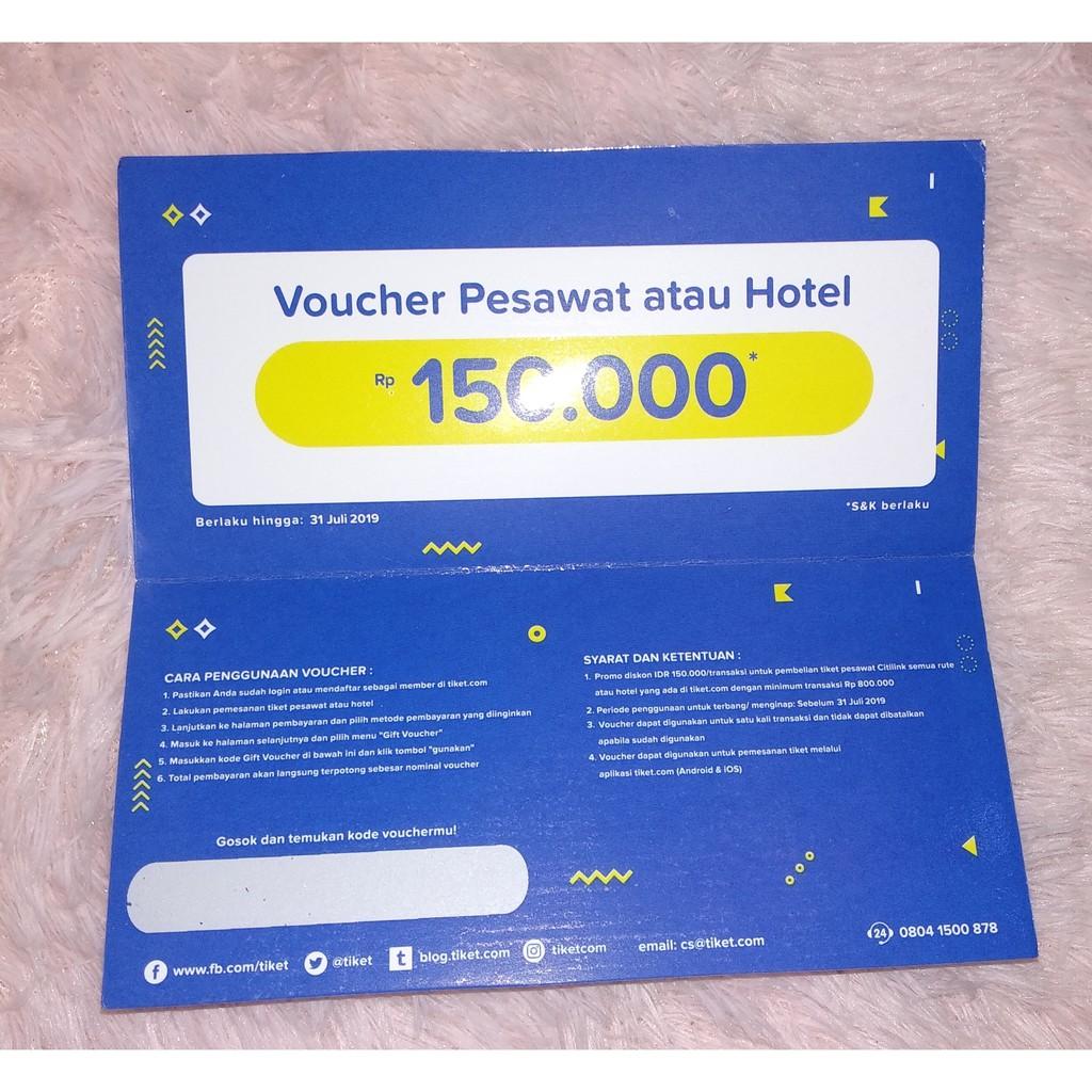 Gift Voucher Pesawat Atau Hotel Shopee Indonesia