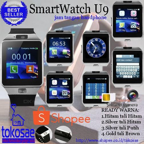 Jam Tangan Hp Android Pintar Kado Pacar Anak Unik U9 Dz09 Smartwatch