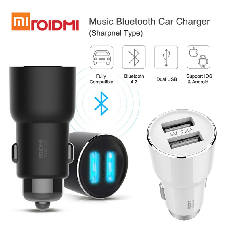 Xiaomi ROIDMI 2 in 1 Car Fast Charger 5V 3.1A Bluetooth FM Transmitter | Shopee