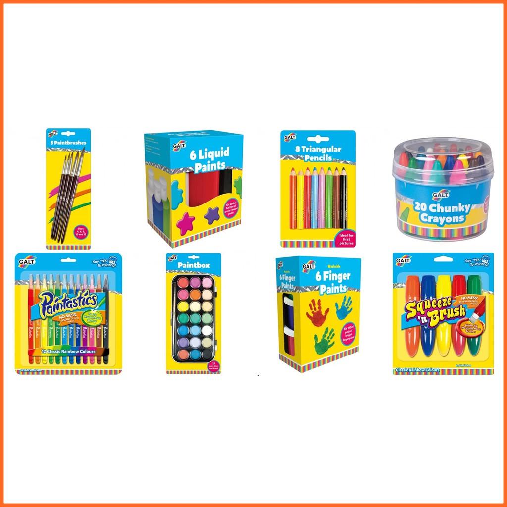 GALT Paintbrushes Liquid Paints Pencils Crayons Painstatic Paintbox Finger Paints & Brush