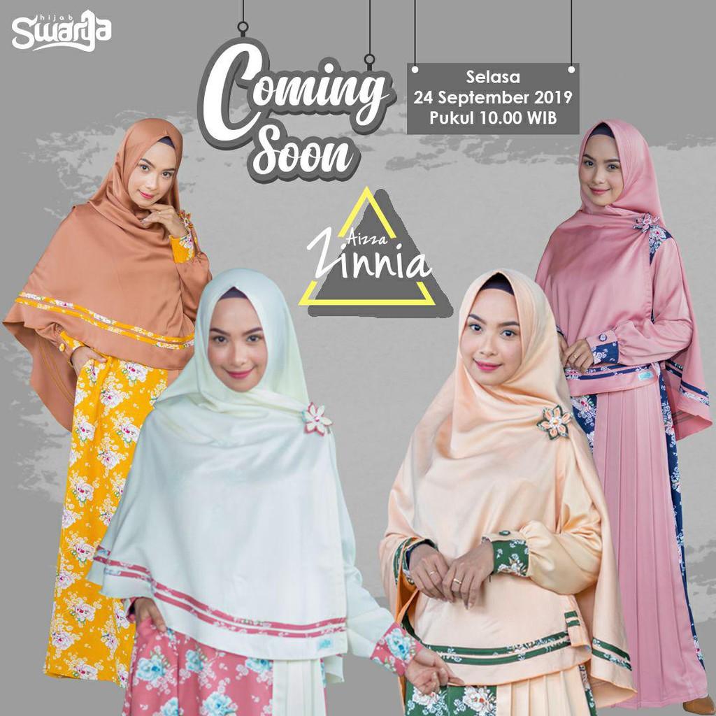 Gamis Aizza Zinnia By Swarga Hijab Shopee Indonesia