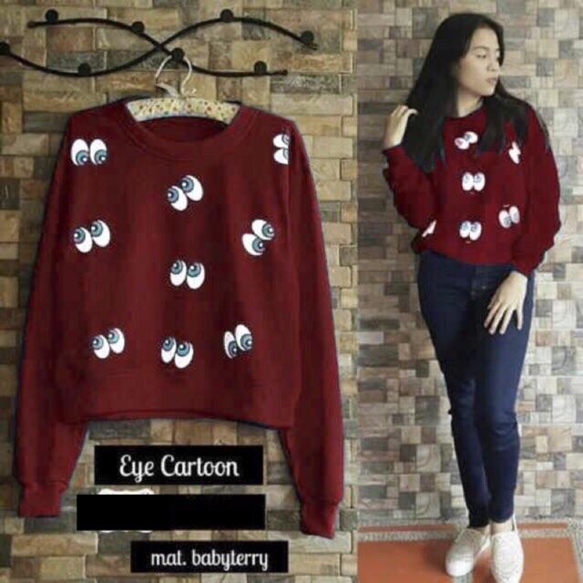 Hokyfashion Sweater Cewe Hello Kitty Pita Merah Long Sleeve - Daftar ... 53a1574832