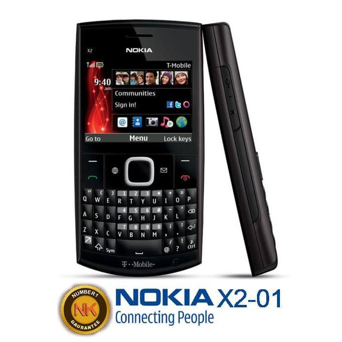 Hp Nokia X2 01 Handphone Hitam Shopee Indonesia