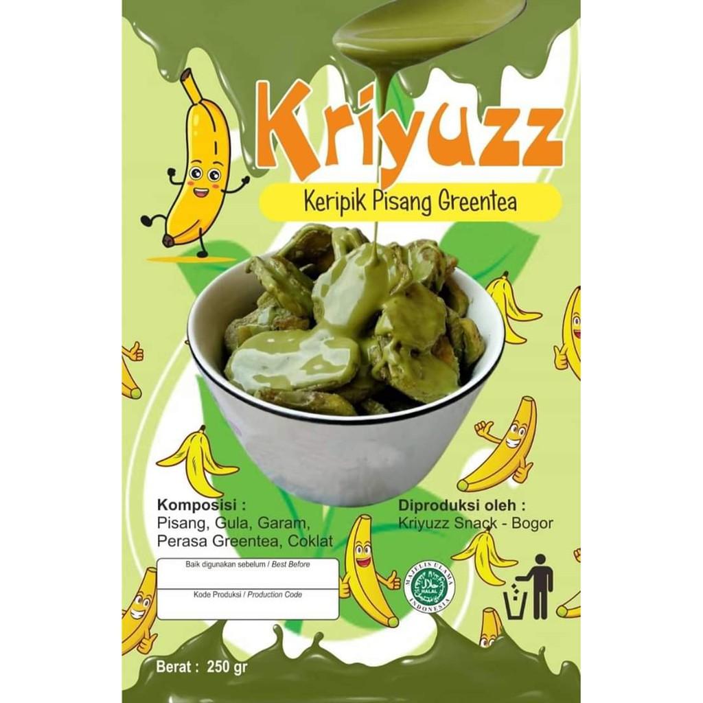 Kripik pisang/kripik pisang greentea/Kriyuzz kripik pisang Greentea
