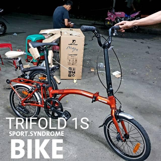 Promo Termurah Sepeda Lipat Mtb 16 United Trifold 1s Folding Bike Shopee Indonesia