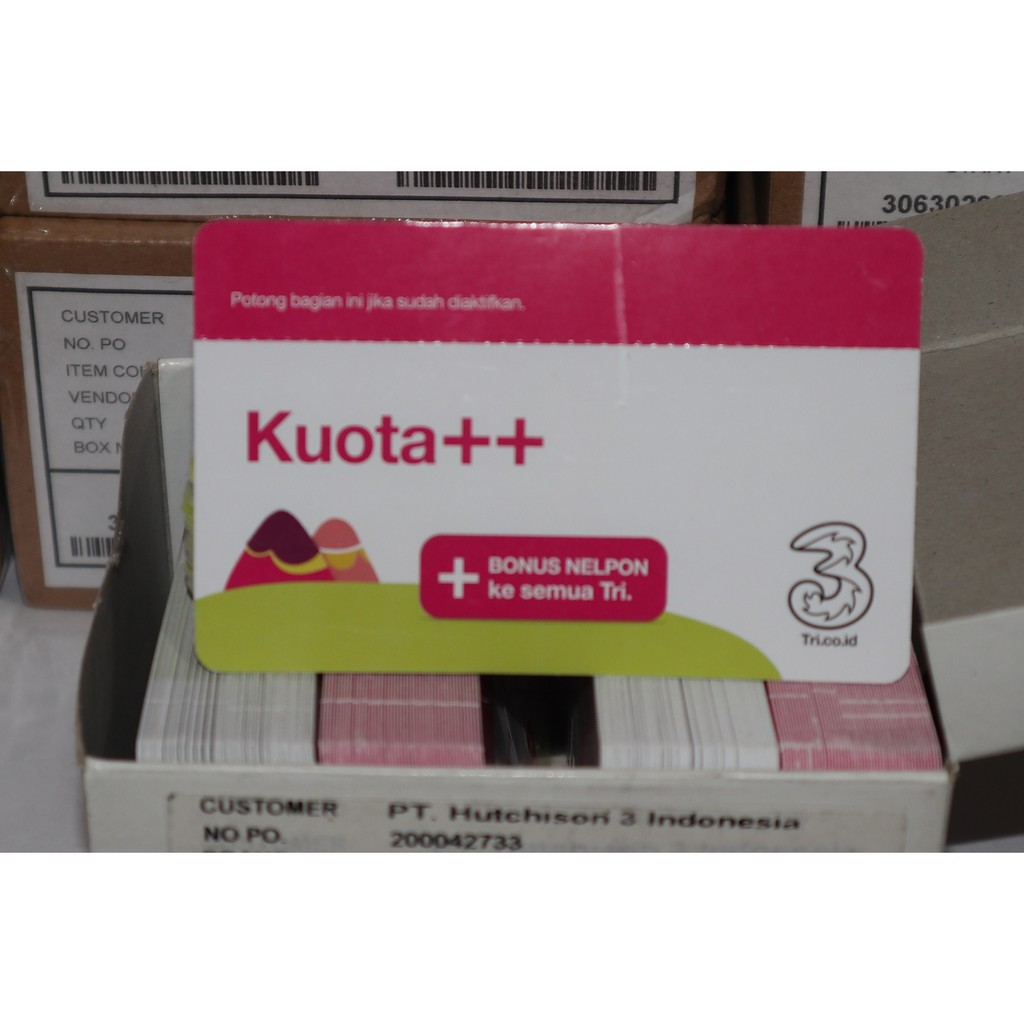 Kartu Perdana Tri Aon 2gb 4gb 6gb Shopee Indonesia Three 3 Internet 10gb Reguler