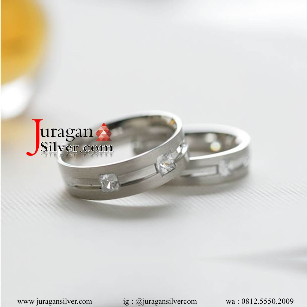 Cincin Emas Palladium Kawin Pasangan Tunangan Nikah Couple Paladium Perhiasan 357 Shopee Indonesia