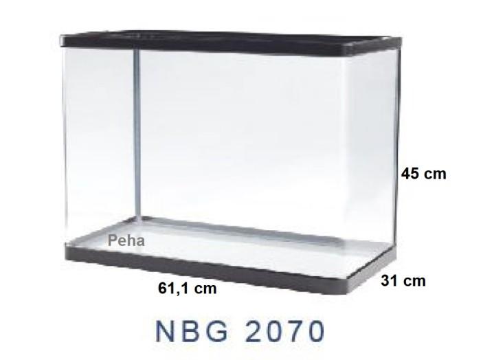 Aquarium Ikan - Akuarium Nisso Manta - Kaca Lengkung p 60 cm NBG 2070