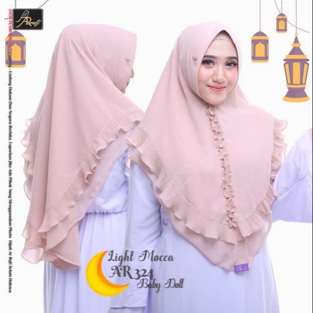 Jilbab Arrafi Hijab Syar I Sifon Ar 324 Shopee Indonesia