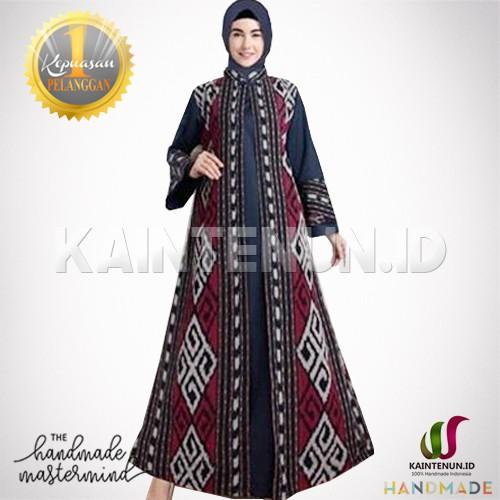 Gamis Batik Wanita Muslimah Kain Tenun Ikat Troso Handmade Gms022 Shopee Indonesia