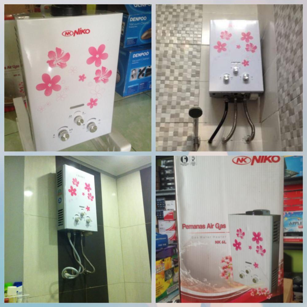 Water Heater Gas Niko 6l Paket Pasang Ke Rumah Shopee Indonesia