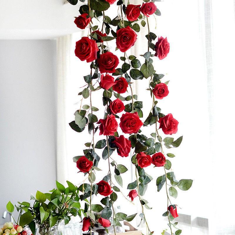 Bayar Di Tempat Bunga Mawar Buatan Dengan Model Gantung Untuk Hiasan Dekorasi Rumah Taman Shopee Indonesia