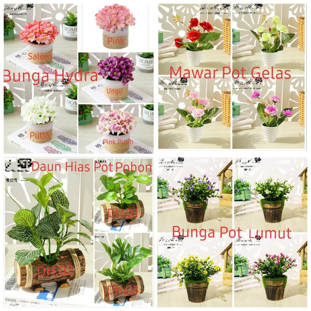 All Bunga Hidra Mawar Dekorasi Pajangan Artifisial Shopee Indonesia
