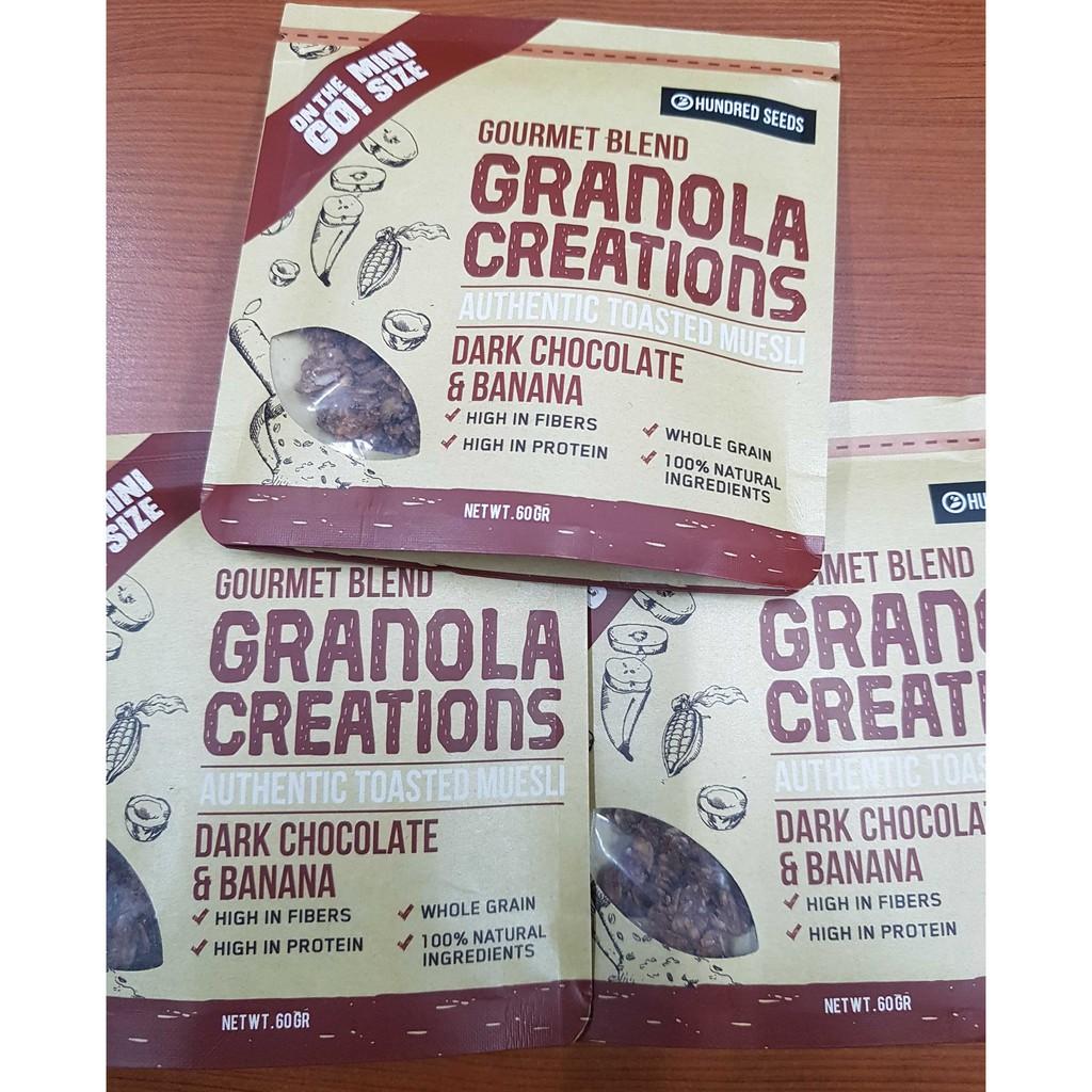 Granola Creation Cinnamon Raisin Original Mix Sarapan Sehat Creations 60 Gr Shopee Indonesia