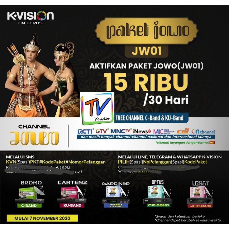 Voucher Kvision Paket Jowo JW01 K-Vision Dan GOL
