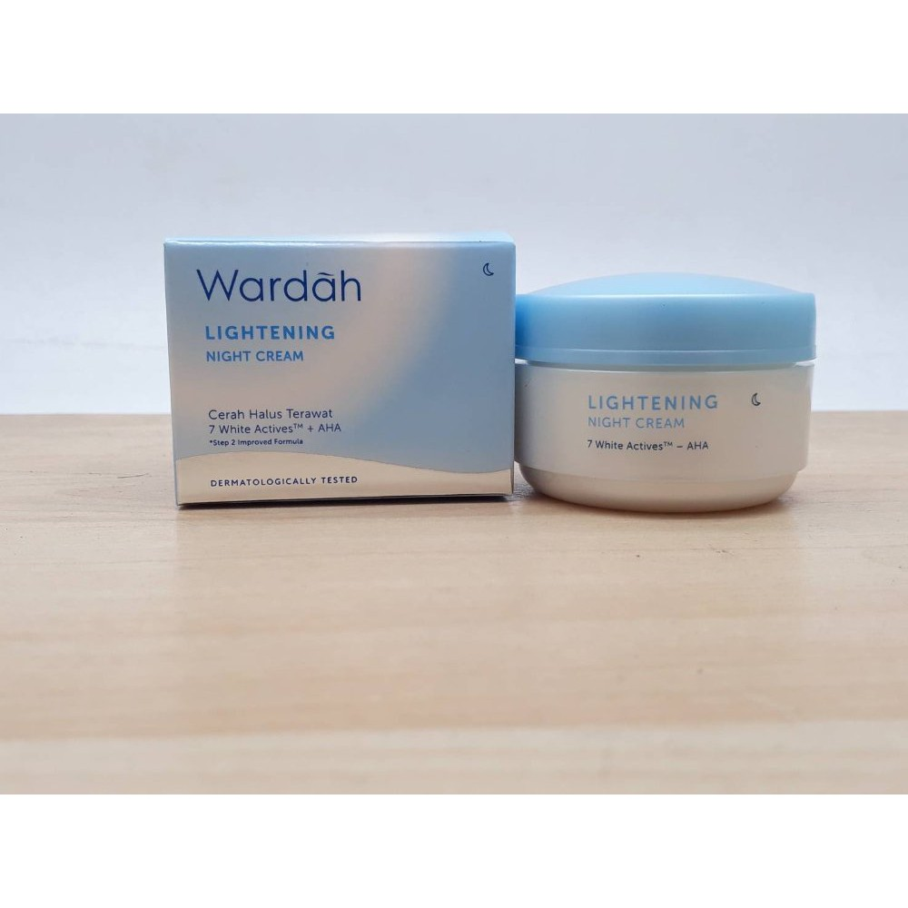 Wardah Lightening Night Cream 30g Shopee Indonesia Step 2 30gr