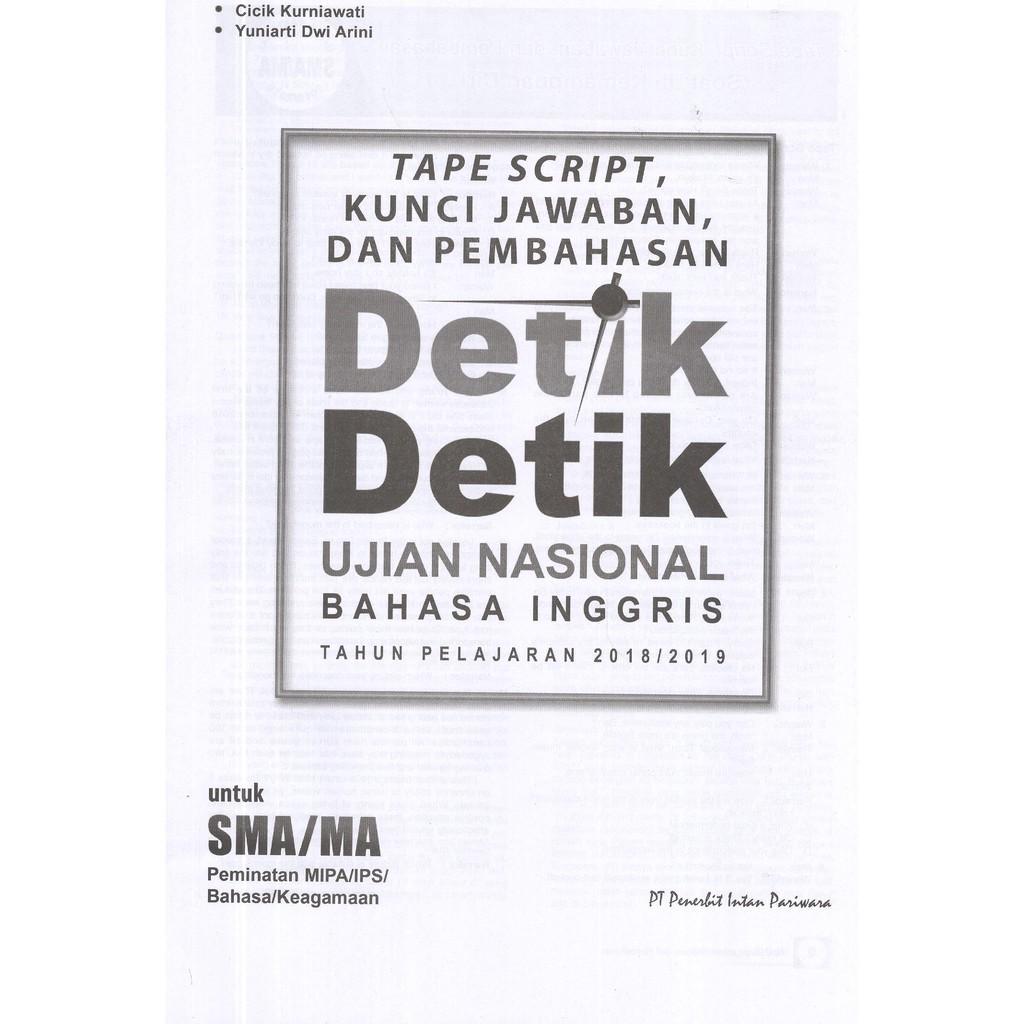 Kunci Jawaban Detik Detik 2019 Bahasa Inggris Kanal Jabar
