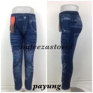 Legging Import Anak Motif Jeans Mutiara Premium Shopee Indonesia