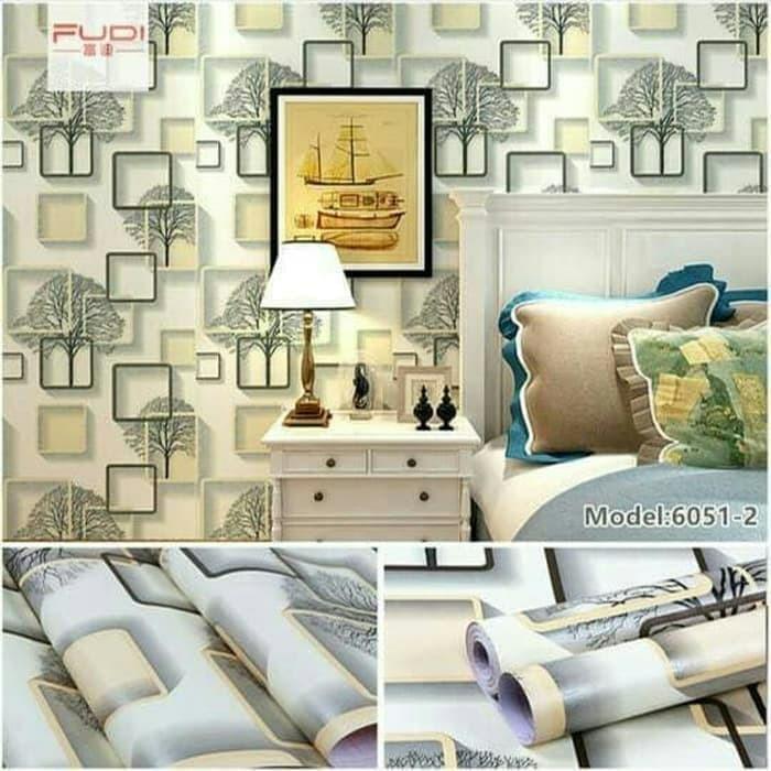 Wallpaper Dinding 3d Pohon Kotak Cream Walpaper Sticker Kamar Ruang Tamu Dapur Rumah Cantik Modern Shopee Indonesia