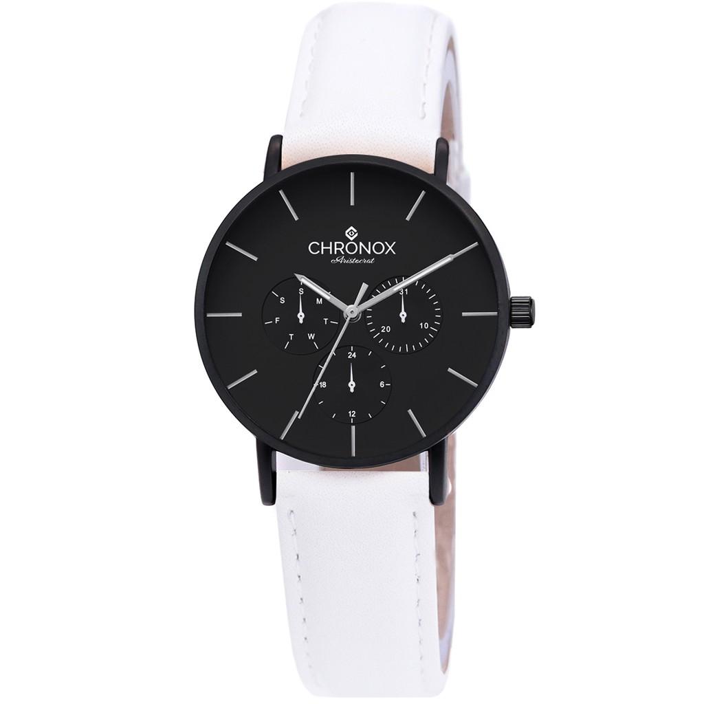 Chronox Cx1006 A8 Fb Putih Jam Tangan Wanita Casual Genuine Leather Strap Teiwe Moeslim Watch Tw15001 Pria Silver