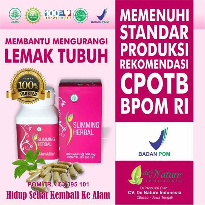 Obat Pelangsing Tubuh Penurun Berat Badan Obat Diet Alami Pria Dan Wanita Herbal De Nature Shopee Indonesia