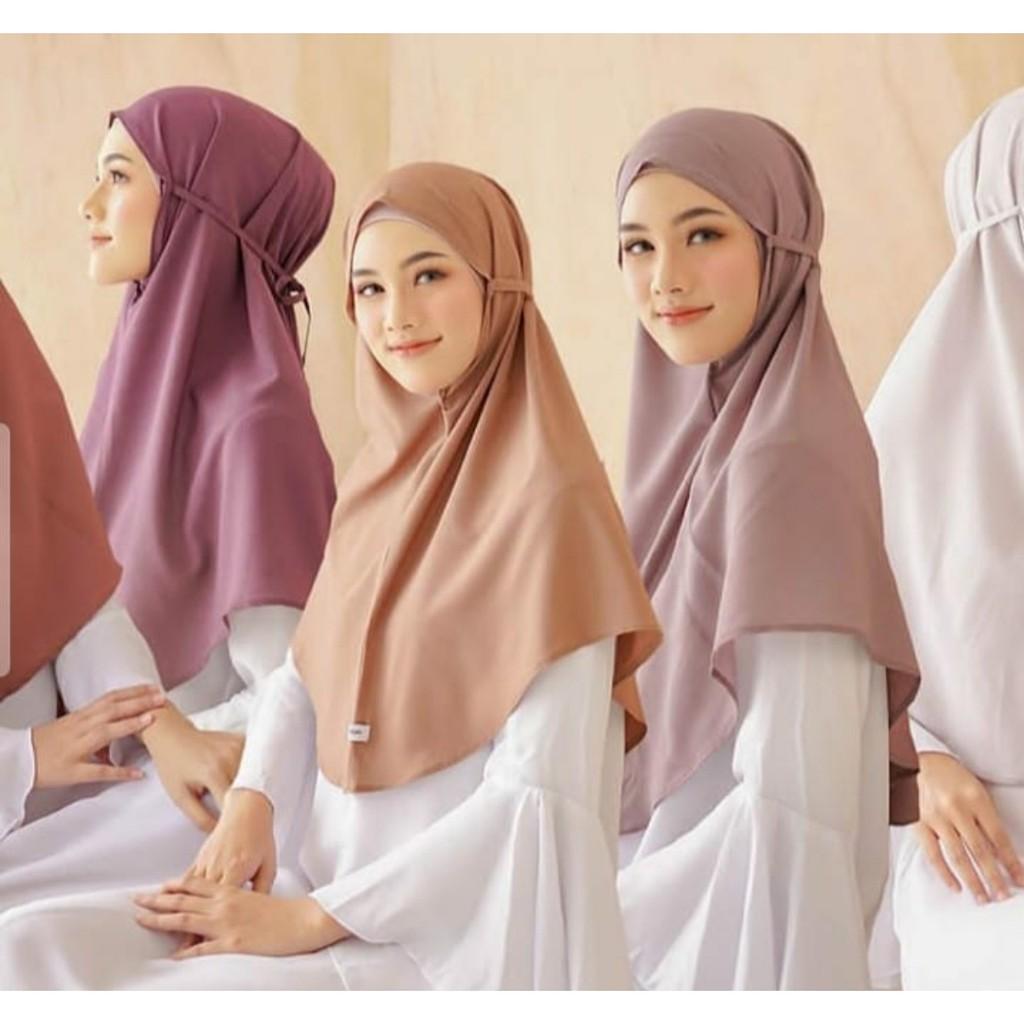 Jilbab Hijab Bergo Maryam Pd 65x70 Termurah Shopee Indonesia