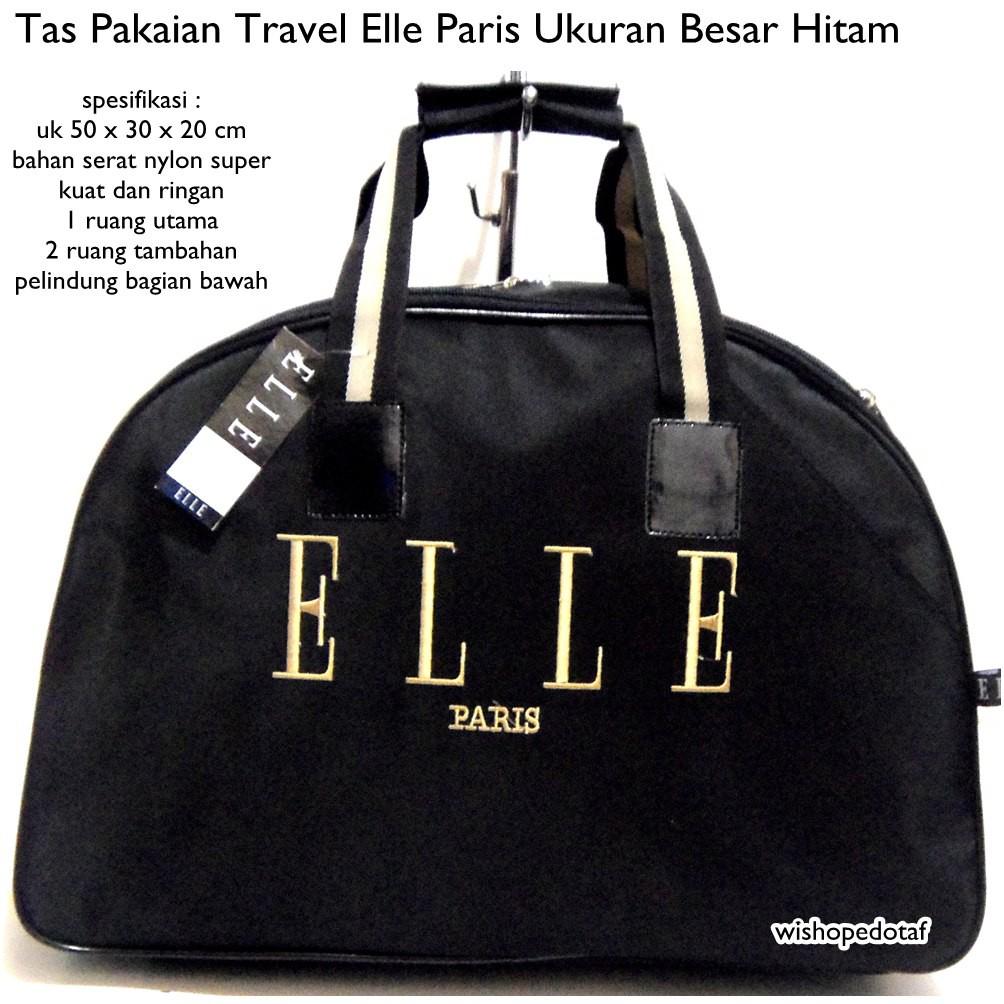 Promo Tas travel bag ELLE Tas pakaian buat mudik dan olahraga pria wanita  by Chazship  9cc98dc9a3