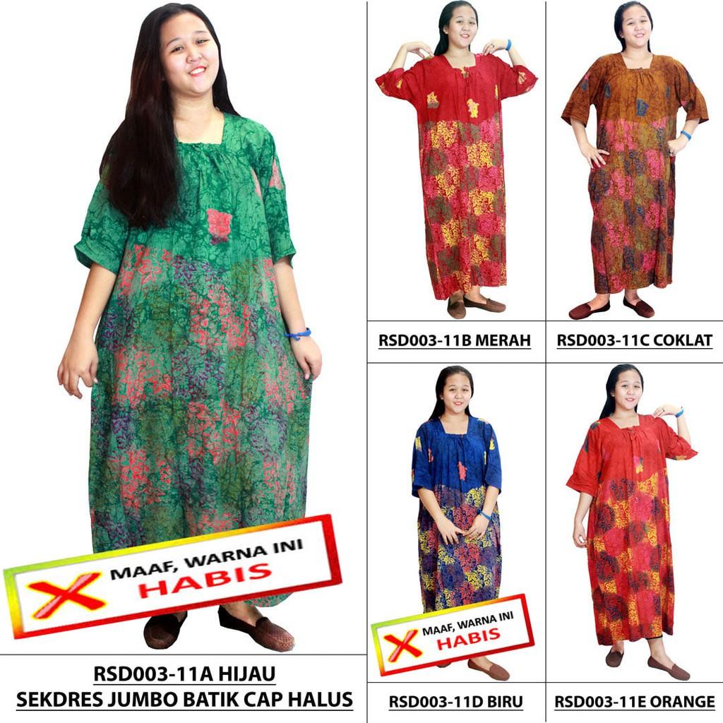 BESTSELLER Sekdres Lengan 7 8 Jumbo Batik Cap Leher Kerut RSD003 11 | Shopee Indonesia
