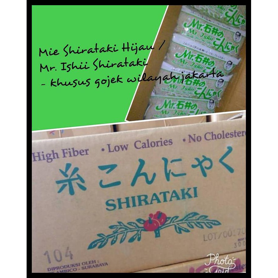 Mie Shirataki Hijau Per Box Isi 25 Shopee Indonesia Biru Wet Blue Noodle 200g