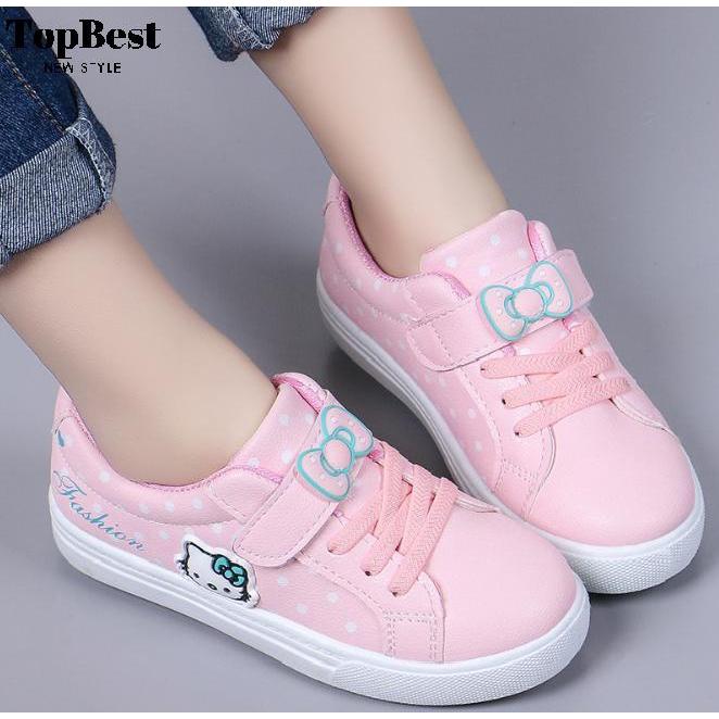 Sepatu Anak Perempuan Sneaker Kitty Casual Size 28 34 Usia 3 6