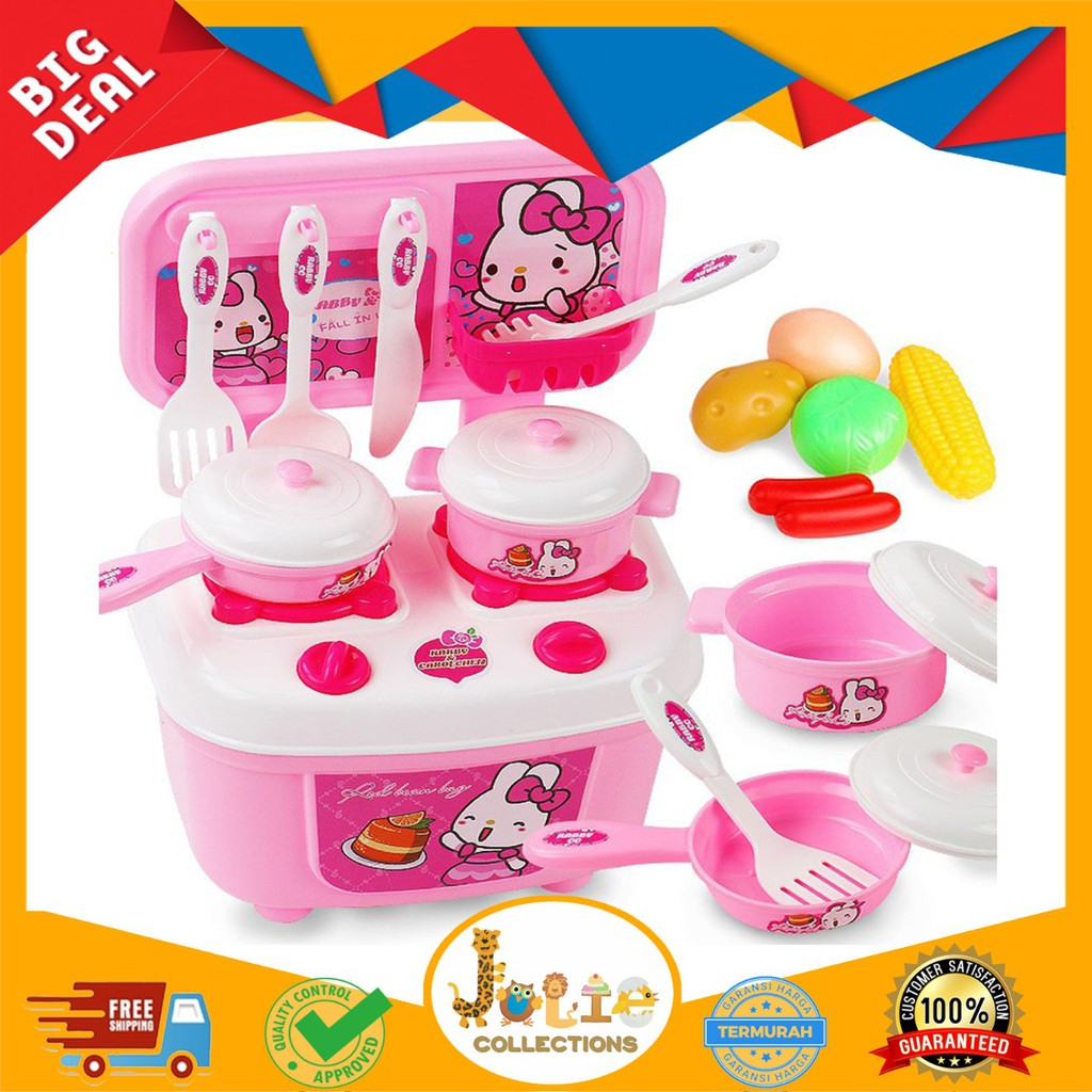 Joliecollections Mainan Kitchen Set Anak Mainan Edukasi Anak Mainan Masak Masakan Anak Shopee Indonesia