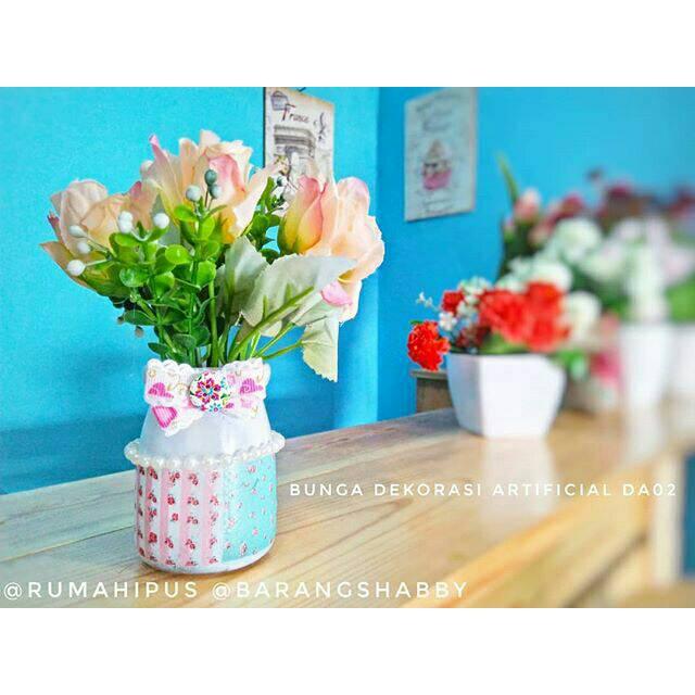 Vas Kaca Transparan Ruang Tamu Bunga Rangkaian Kayu DT225 | Shopee Indonesia