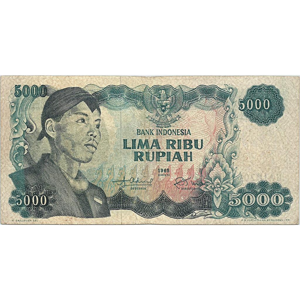 Uang Kuno Indonesia 1968 (Sudirman) 5000 Rupiah