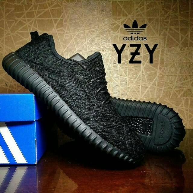 f3c557cec8d SEPATU CASUAL ADIDAS YEEZY BOOST 350 PIRATE BLACK
