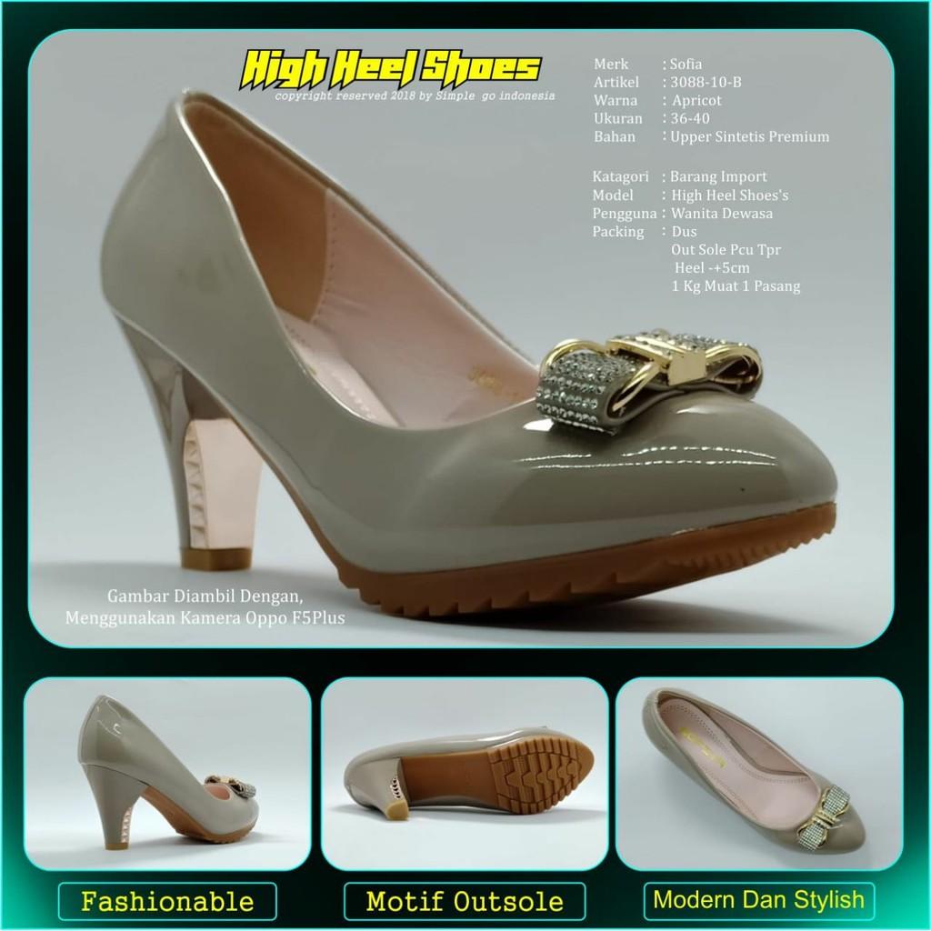 Sepatu wedges wanita Sofiya 3088 10 36-40  8a7b0ea91f